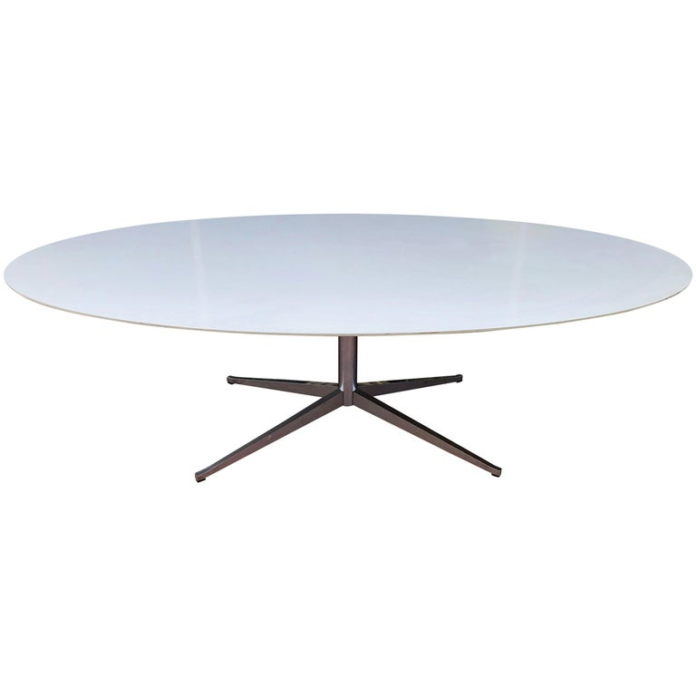 Florence Knoll Dining or Conference Desk Table Chrome Star Base X Large