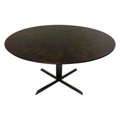 Florence Knoll Ebony Veneered Top Dining Table