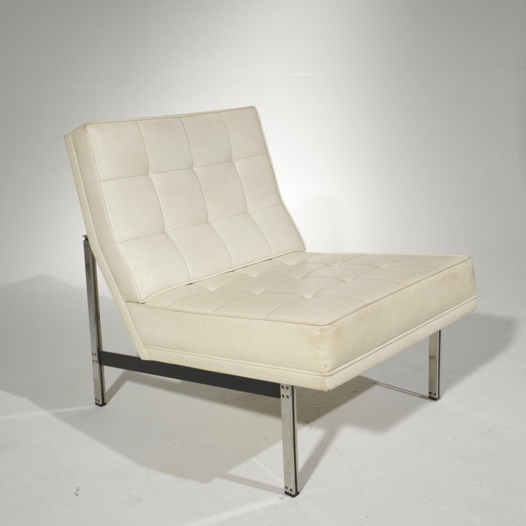 Mid-Century Modern Florence Knoll for Knoll Associates Parallel Bar System Lounge Chair For Sale