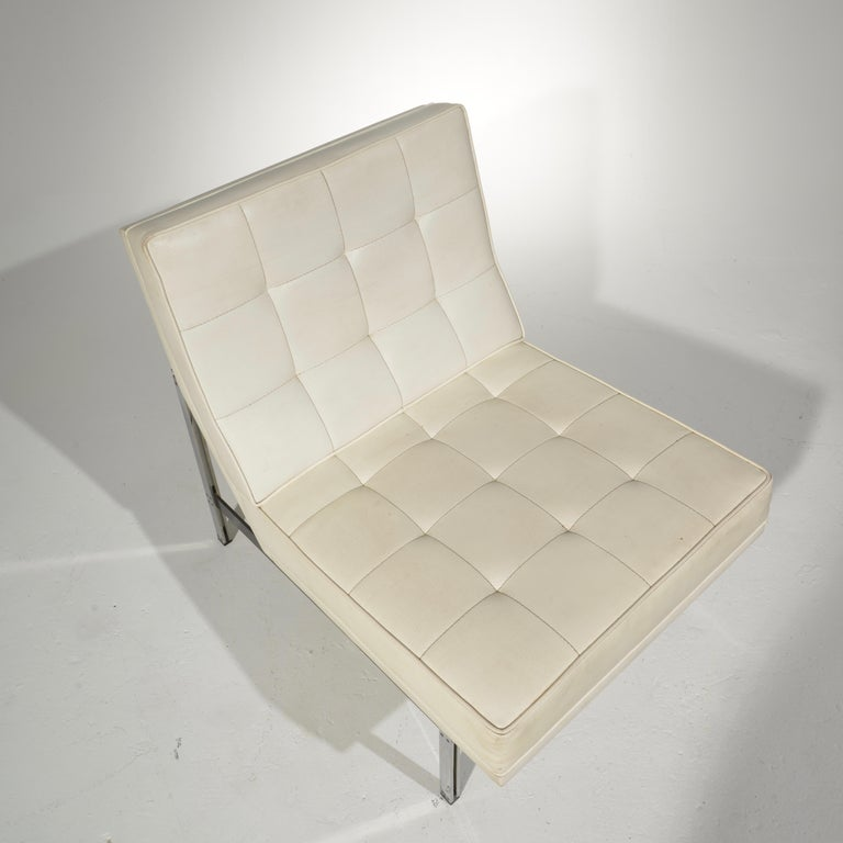 Florence Knoll for Knoll Associates Parallel Bar System Lounge Chair In Good Condition For Sale In Los Angeles, CA