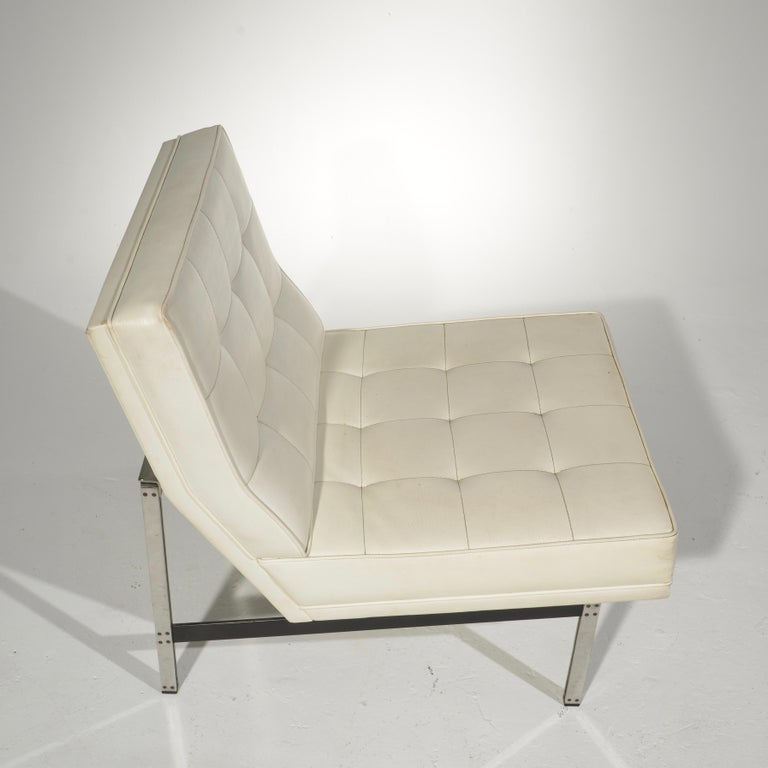 Florence Knoll for Knoll Associates Parallel Bar System Lounge Chair For Sale 2