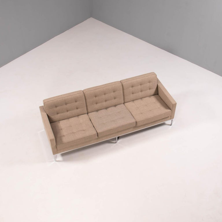 Originally designed by Florence Knoll in 1954, this sofa is a fantastic example of the modern aesthetic of the era.  The design has since been updated to the Relaxed model which offers deeper seating and more comfort while maintaining the original