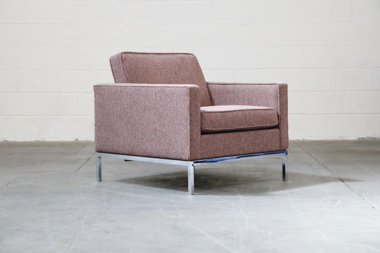 Mid-Century Modern Florence Knoll for Knoll International Lounge Armchair, circa 1980s For Sale