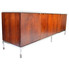 Florence Knoll for Knoll International Marble-Top Rosewood 4-Door Credenza