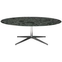 Florence Knoll for Knoll International Oval Dining Table in Green Marble