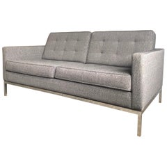 Florence Knoll for Knoll Mid-Century Loveseat Sofa