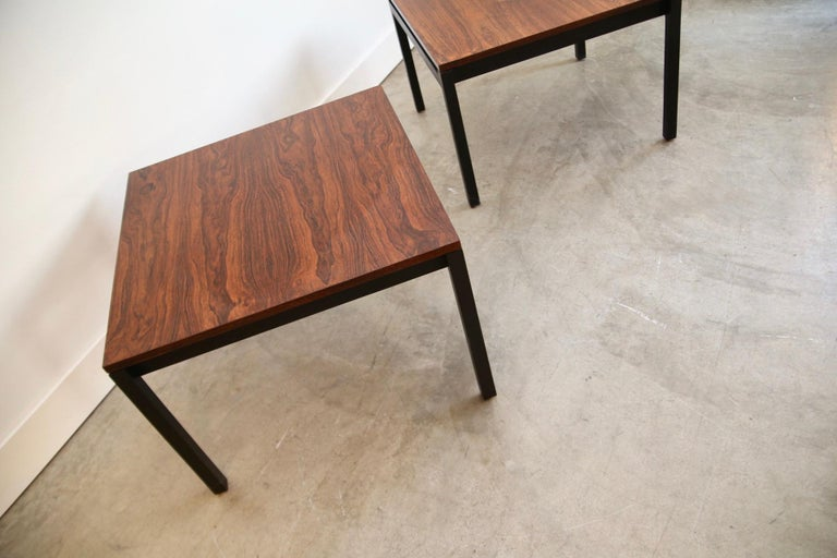 Mid-Century Modern Florence Knoll for Knoll Rosewood End Tables For Sale