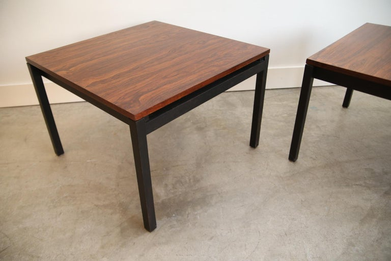 North American Florence Knoll for Knoll Rosewood End Tables For Sale