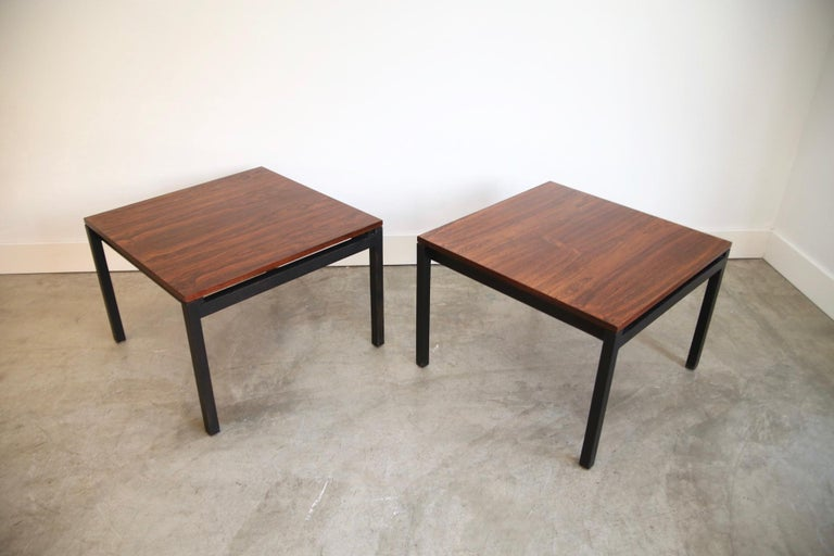 Florence Knoll for Knoll Rosewood End Tables In Good Condition For Sale In St. Louis, MO