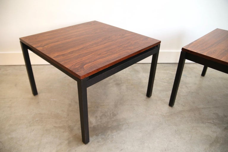 Mid-20th Century Florence Knoll for Knoll Rosewood End Tables For Sale