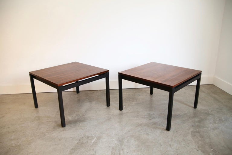 Florence Knoll for Knoll Rosewood End Tables For Sale 1