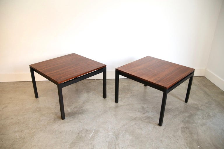 Florence Knoll for Knoll Rosewood End Tables For Sale 2