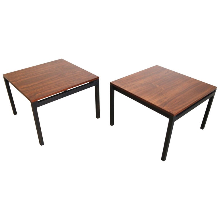 Florence Knoll for Knoll Rosewood End Tables For Sale