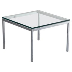 Florence Knoll Glass and Chrome Side Table for Knoll