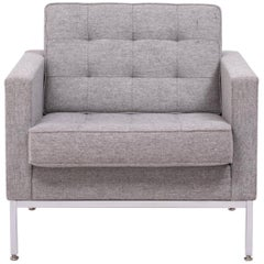 Florence Knoll Grey Tuxedo Lounge Chair