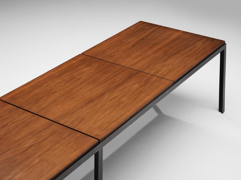 Florence Knoll Large T-Angle Bench in Teak In Good Condition For Sale In Waalwijk, NL
