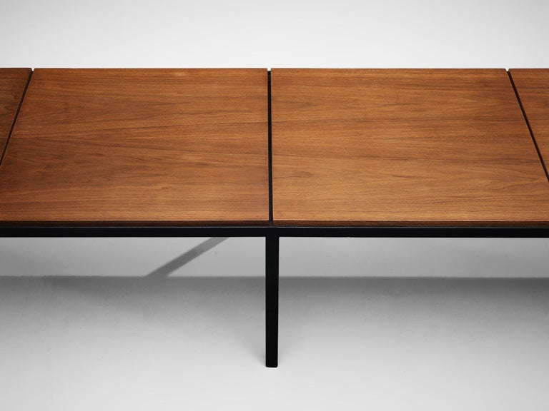 Mid-20th Century Florence Knoll Large T-Angle Bench in Teak For Sale