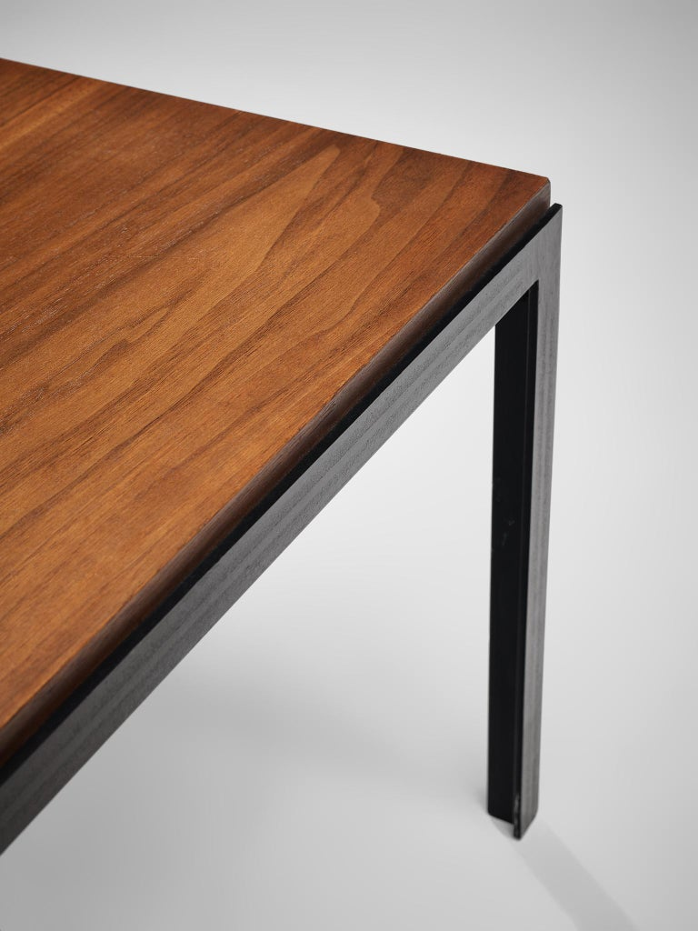 Florence Knoll Large T-Angle Bench in Teak For Sale 1