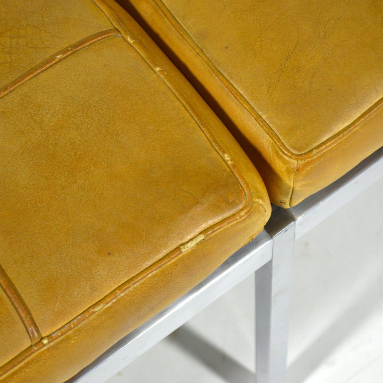 Florence Knoll Leather Bench For Sale 2