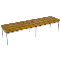 Florence Knoll Leather Bench