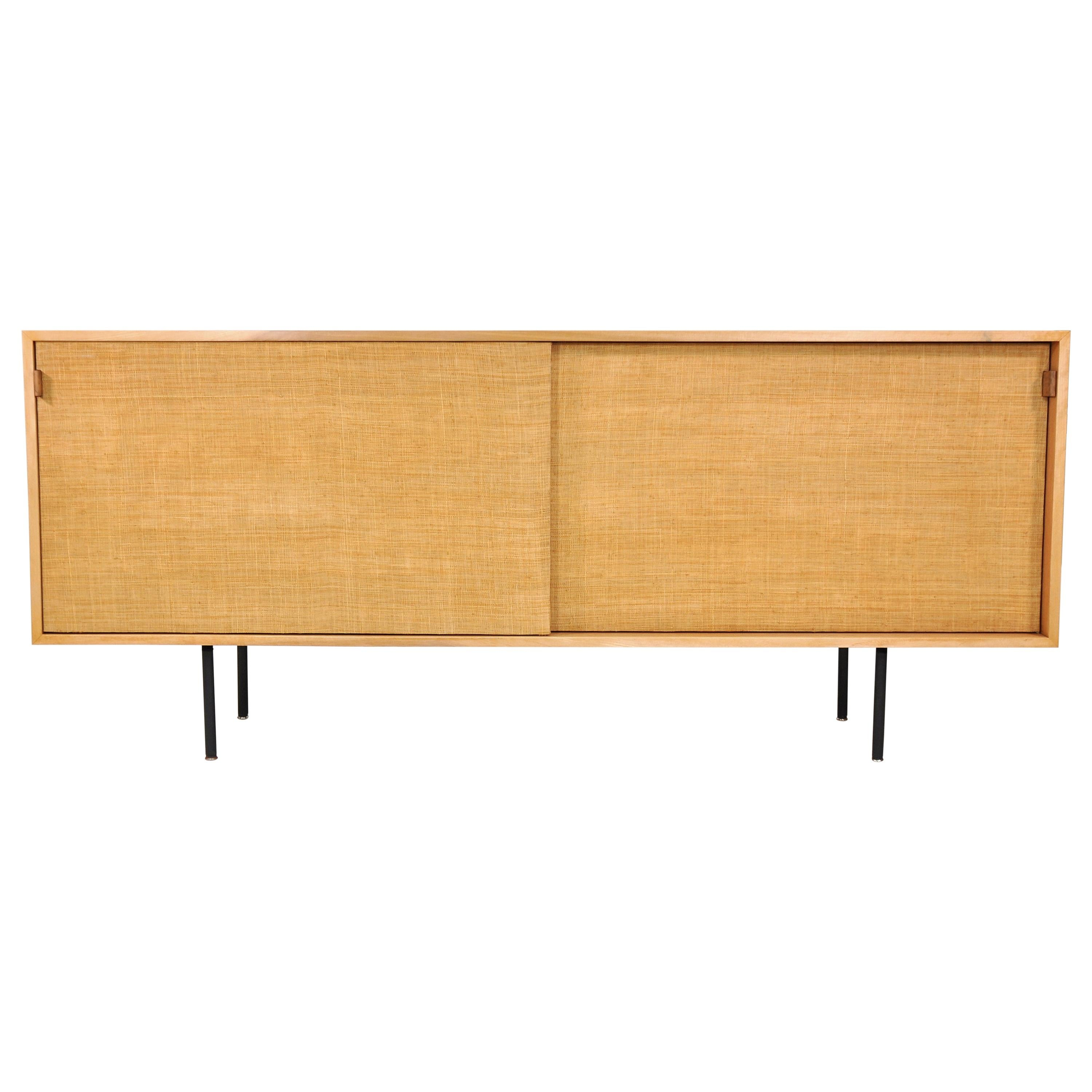 Florence Knoll Maple and Seagrass Credenza