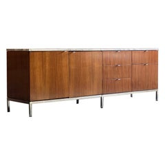 Florence Knoll Marble & Rosewood Credenza, Circa 1950s