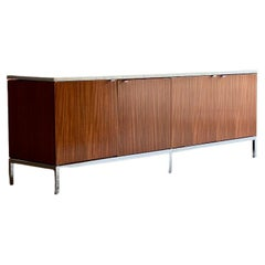 Florence Knoll Marble & Teak Credenza, USA, 1970s