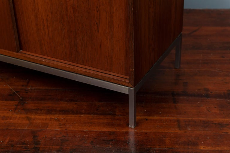American Florence Knoll Marble-Top Rosewood Credenza For Sale