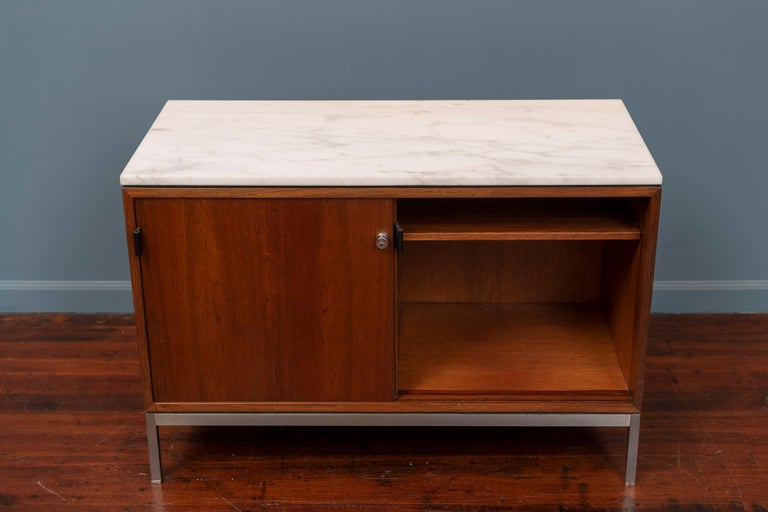 Late 20th Century Florence Knoll Marble-Top Rosewood Credenza For Sale