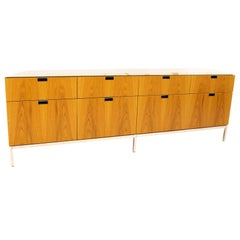 Florence Knoll Mid Century White Marble-Top Sideboard Credenza