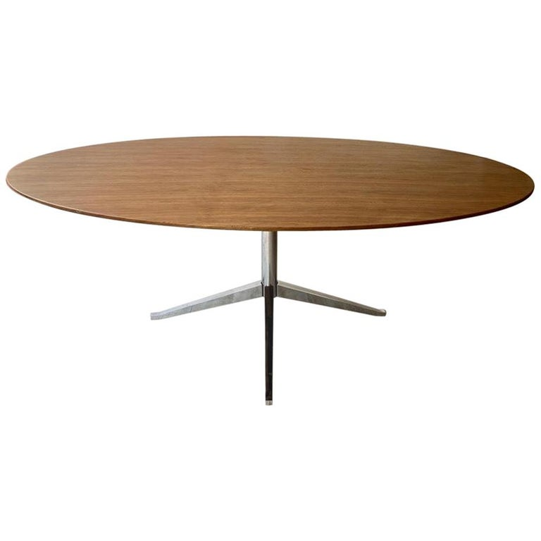 Florence Knoll Oval Dining Table Walnut