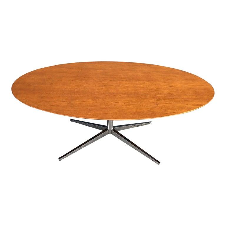 Florence Knoll Oval Table Desk in Walnut 1