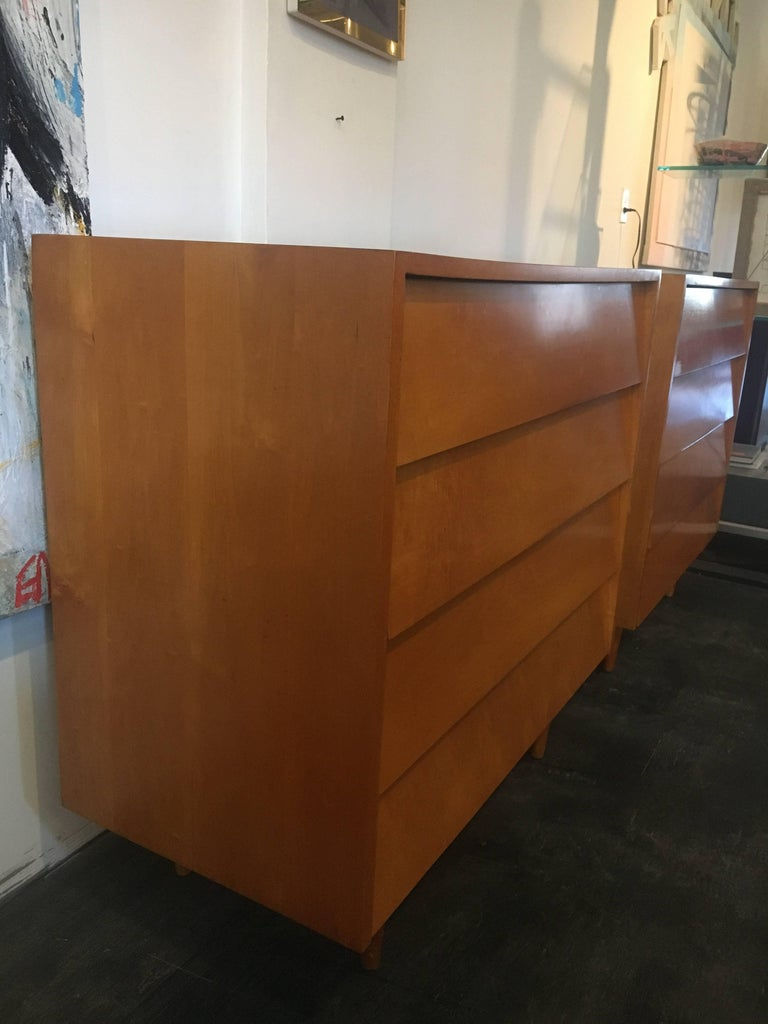 Florence Knoll Pair of Dressers or Chests, 1950 In Excellent Condition For Sale In Brooklyn, NY