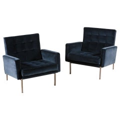 """Florence Knoll, Pair of """"Parallel Bar"""" Lounge Chairs, circa 1965"""