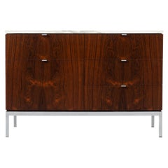 Florence Knoll Rosewood Credenza with Marble Top