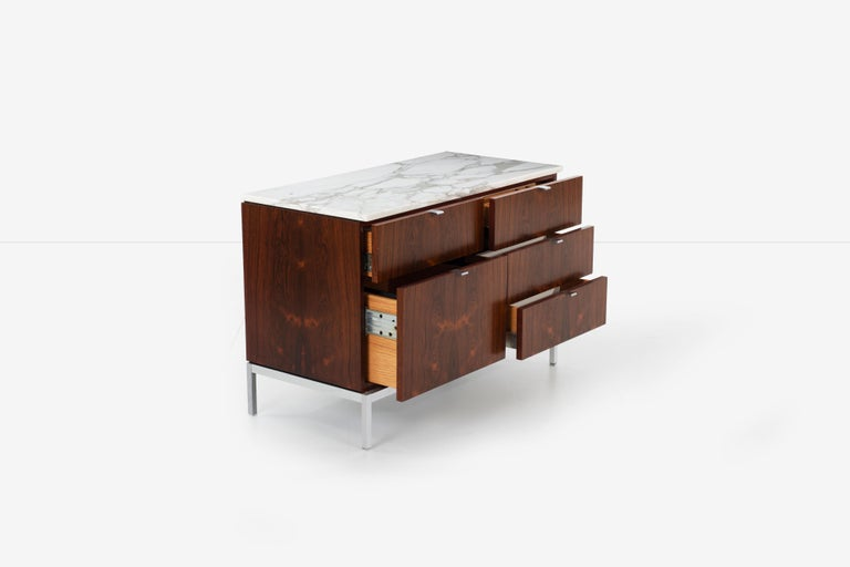 Florence Knoll Rosewood Storage Cases For Sale 9