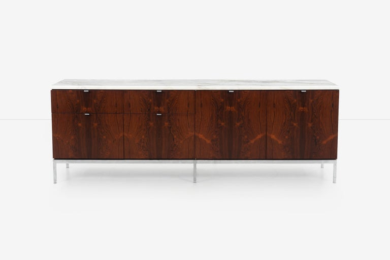 Mid-Century Modern Florence Knoll Rosewood Storage Cases For Sale