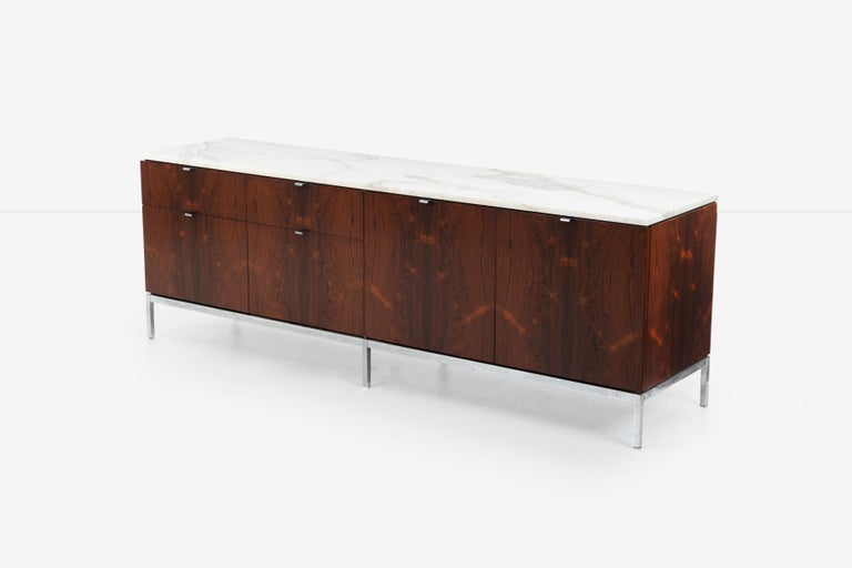 Chrome Florence Knoll Rosewood Storage Cases For Sale