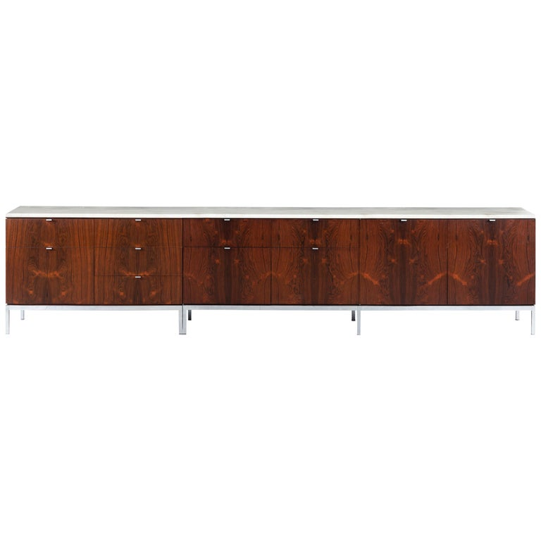 Florence Knoll Rosewood Storage Cases For Sale