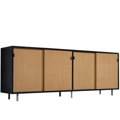 Florence Knoll Seagrass Credenza Designed for Knoll Office