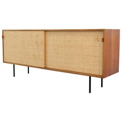 Florence Knoll, Sideboard 1968 Seagrass Doors and Walnut by Knoll International