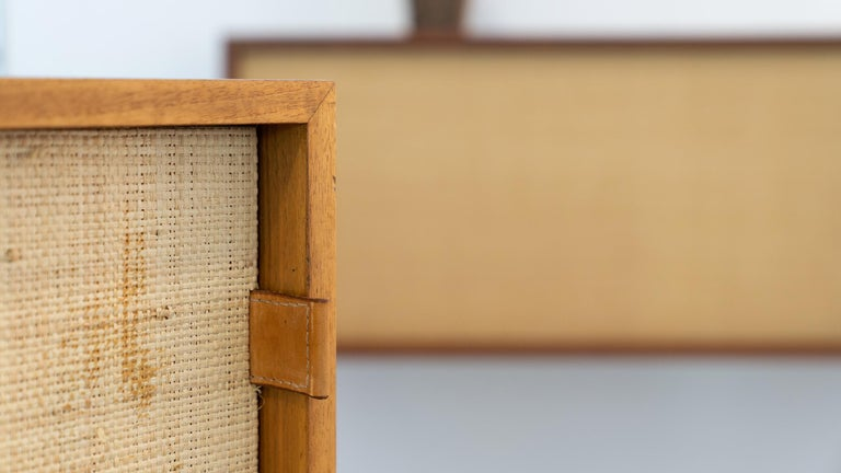 Florence Knoll, Sideboard 1968 Seagrass Doors and Walnut by Knoll International 4