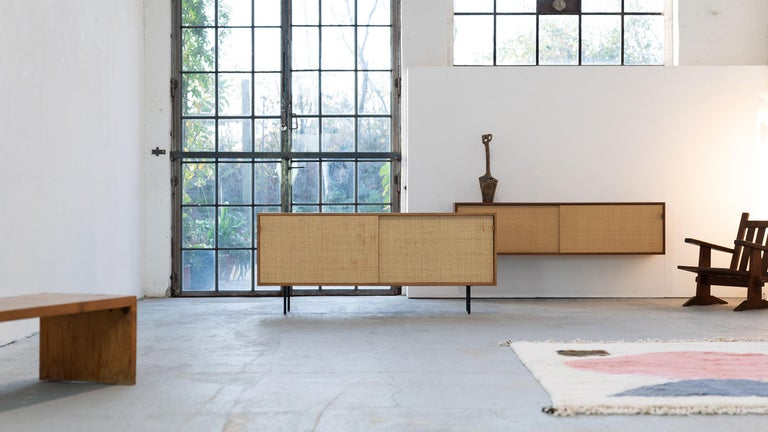 Florence Knoll, Sideboard 1968 Seagrass Doors and Walnut by Knoll International 6