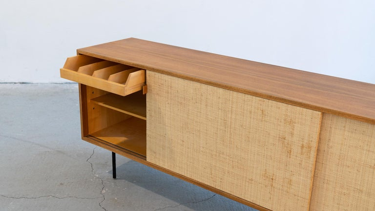 Florence Knoll, Sideboard 1968 Seagrass Doors and Walnut by Knoll International 9