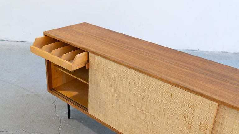 Florence Knoll, Sideboard 1968 Seagrass Doors and Walnut by Knoll International 10