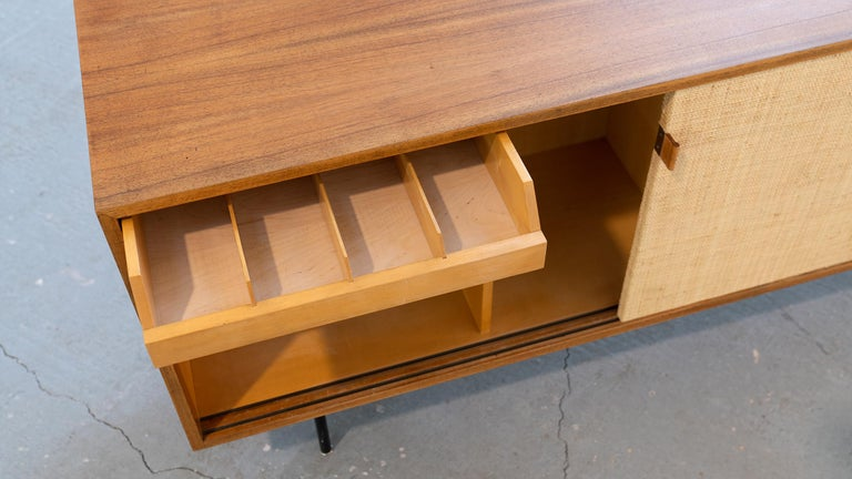 Florence Knoll, Sideboard 1968 Seagrass Doors and Walnut by Knoll International 11