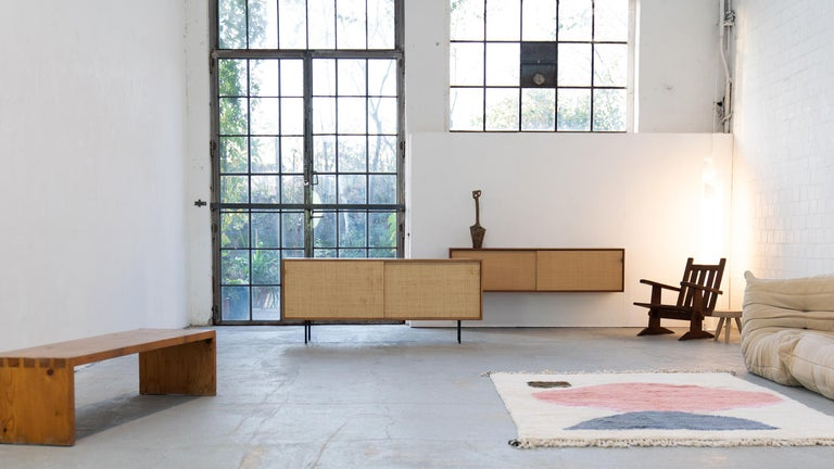 Florence Knoll, Sideboard 1968 Seagrass Doors and Walnut by Knoll International 12