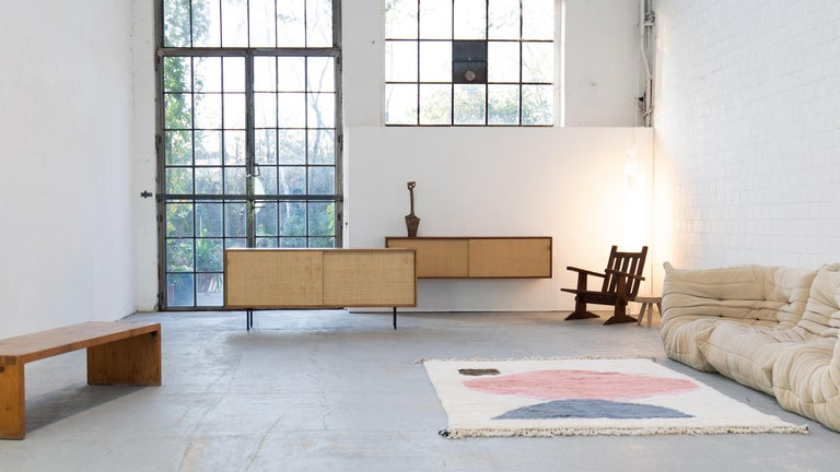 Florence Knoll, Sideboard 1968 Seagrass Doors and Walnut by Knoll International 14