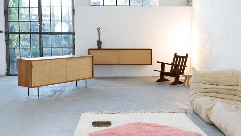 Florence Knoll, Sideboard 1968 Seagrass Doors and Walnut by Knoll International 2