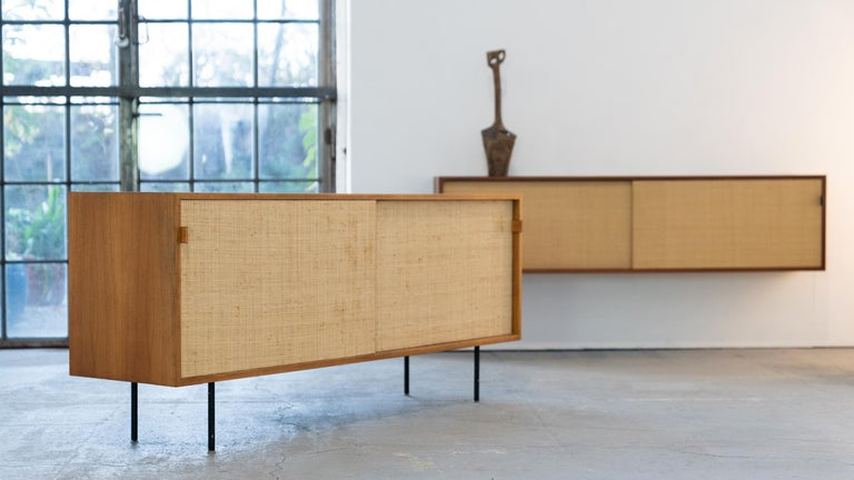 Florence Knoll, Sideboard 1968 Seagrass Doors and Walnut by Knoll International 3